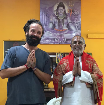 with guruji BNS Iyengar, Krishnamacharr Yoga Foundation, Mysore 2019